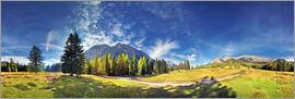 Michael Rucker - 360 ° mountain panorama in the Wettersteingebirge south face with Mieminger chain