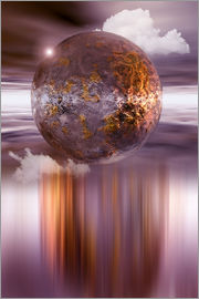 INA FineArt - 3D ball in purple and copper