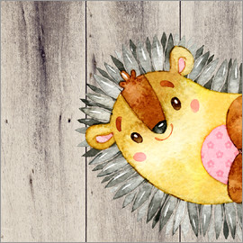 UtArt - 4 Friends  Forest animals- Hedgehog
