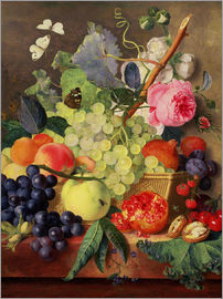 Jan van Huysum - A Basket of Fruit, 1744