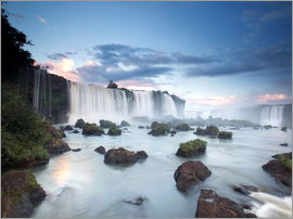 Alex Saberi - A dramatic sunset over Iguacu waterfalls.