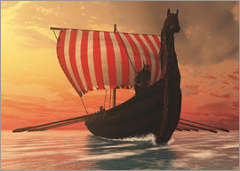 Corey Ford - A Viking longboat sails to new shores.