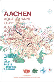 campus graphics - Aachen city motif map