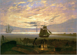 Caspar David Friedrich - Evening at the Baltic Sea