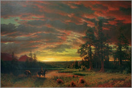Albert Bierstadt - Evening on the Prairie