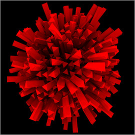 Abstract ball in red
