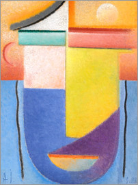 Alexej von Jawlensky - Abstract head - water and light