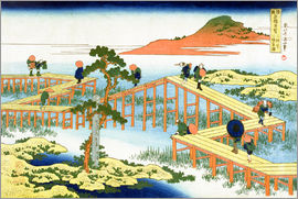 Katsushika Hokusai - Eight part bridge, province of Mucawa