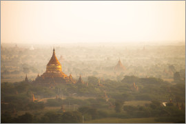 Harry Marx - Aerial view of ancient temples (more than 2200 temples) of Bagan at sunrise in Myanmar