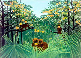 Henri Rousseau - Monkeys in the Jungle, 1910