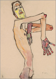 Egon Schiele - Nude with crossed arms
