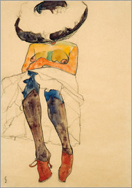 Egon Schiele - Nude with Hat
