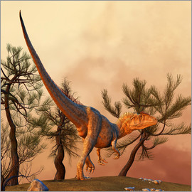 Philip Brownlow - Allosaurus, a large theropod dinosaur from the late Jurassic period.