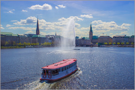 Dennis Stracke - Alsterdampfer on the Inner Alster Hamburg