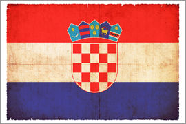Christian Müringer - Old flag of Croatia in grunge style