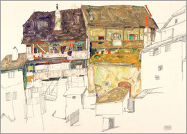 Egon Schiele - Old Houses in Krumau