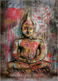 teddynash - Old Buddha in Graffiti