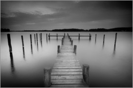 Filtergrafia - Old wooden pier in the still waters