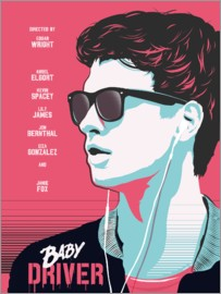 Golden Planet Prints - Alternative baby driver movie art print