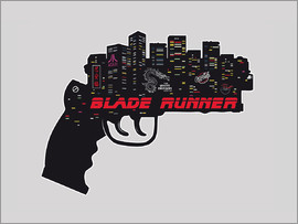 2ToastDesign - alternative blade runner rick deckard gun movie poster
