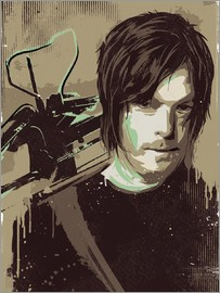 2ToastDesign - alternative daryl dixon walking illustration