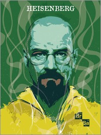 2ToastDesign - alternative heisenberg breaking bad portrait design