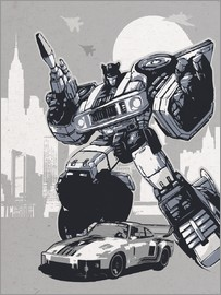 2ToastDesign - alternative jazz retro transformers art print