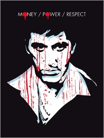 2ToastDesign - alternative scarface tony montana movie poster