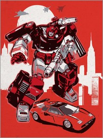 2ToastDesign - alternative sideswipe retro transformers art print