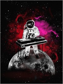 2ToastDesign - alternative space astronaut dj art poster