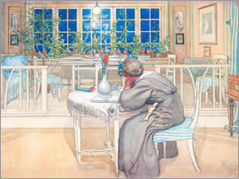 Carl Larsson - The Evening Before the Journey to England