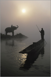 Sean White - On Rapti river in Sauraha
