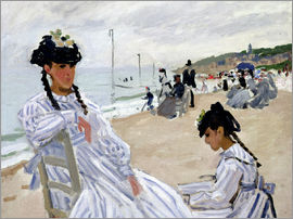 Claude Monet - On the beach in Trouville