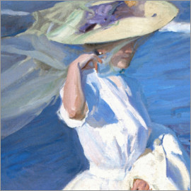 Joaquin Sorolla y Bastida - On the beach walk, detail