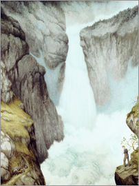 Theodor Kittelsen - At the waterfall