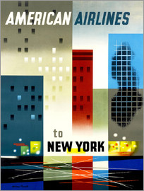 American Airlines to New York vintage travel