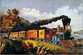 N. & J.M. Currier & Ives - American Express Train.