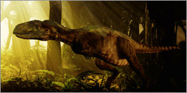 Philip Brownlow - An Abelisaurus moves stealthily though the forest.