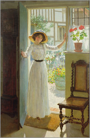 William Henry Margetson - By the Cottage Door