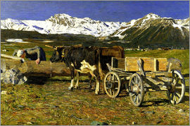 Giovanni Segantini - At the watering place