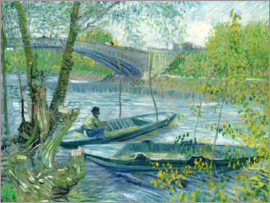 Vincent van Gogh - Angler and boat at the Pont de Clichy