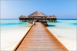 Matteo Colombo - Jetty and overwater bungalows, Maldives