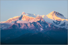 Matteo Colombo - Annapurna mountain range at sunset, Nepal