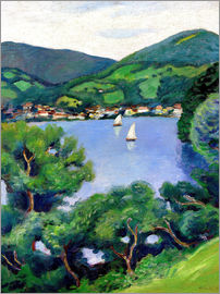 August Macke - View of Tegernsee lake