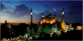 View of Hagia Sophia after sunset