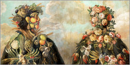 Giuseppe Arcimboldo - A anthropomorphosic profile of a man and a woman