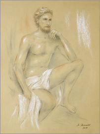 Marita Zacharias - Apollo - Male semi nude