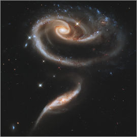 Stocktrek Images - Arp 273 interacting galaxies in Andromeda.