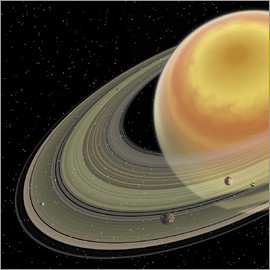 Corey Ford - Artist's concept of planet Saturn.