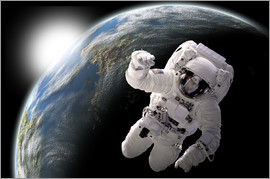 Marc Ward - Astronaut in space